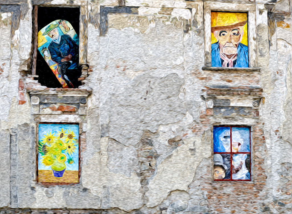 Second Place (Tie)<br /> Art on a Crumbling Wall<br /> Hal Schillreff