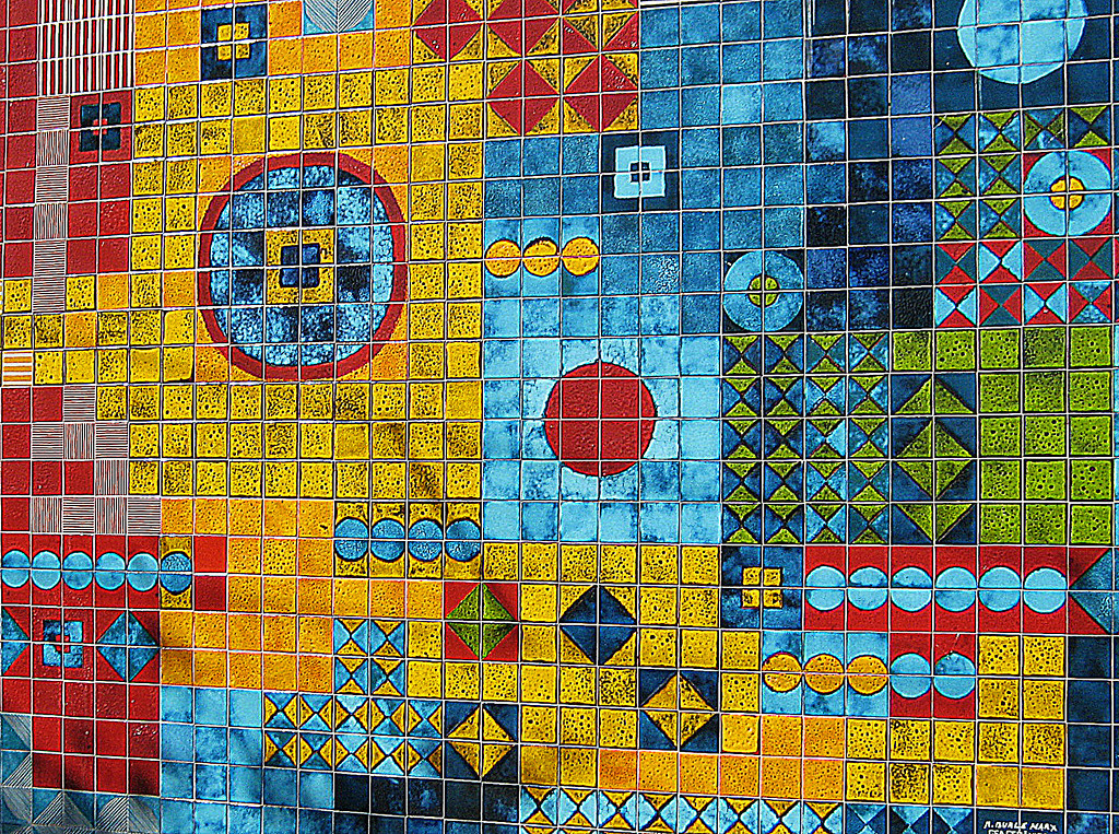 Honorable Mention<br /> Colorful Tiles<br /> Gail Crichton