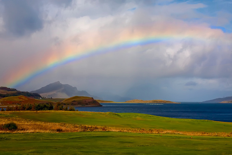 First Place (Tie)<br /> Golf Under a Rainbow<br /> Dana Vannoy