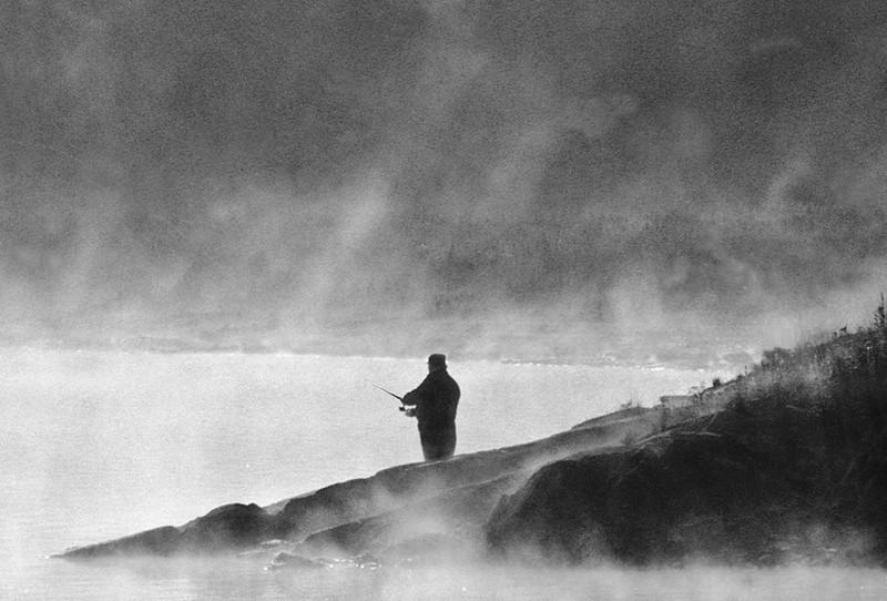 Third Place (Tie)<br /> River Fisherman<br /> Bob Bachand