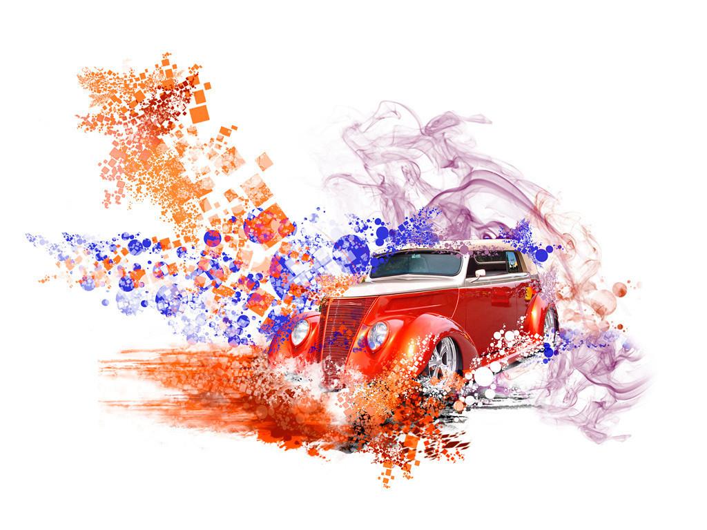 Second Place (Tie)<br /> Deco Car<br /> Nancy Springer