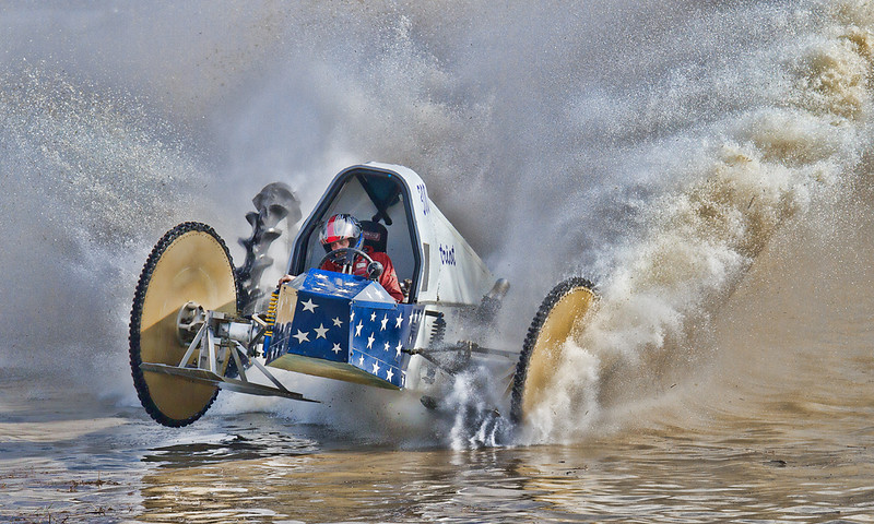 Open Projection Image of the Year<br /> Racing in the Swamp<br /> Mike Landwehr