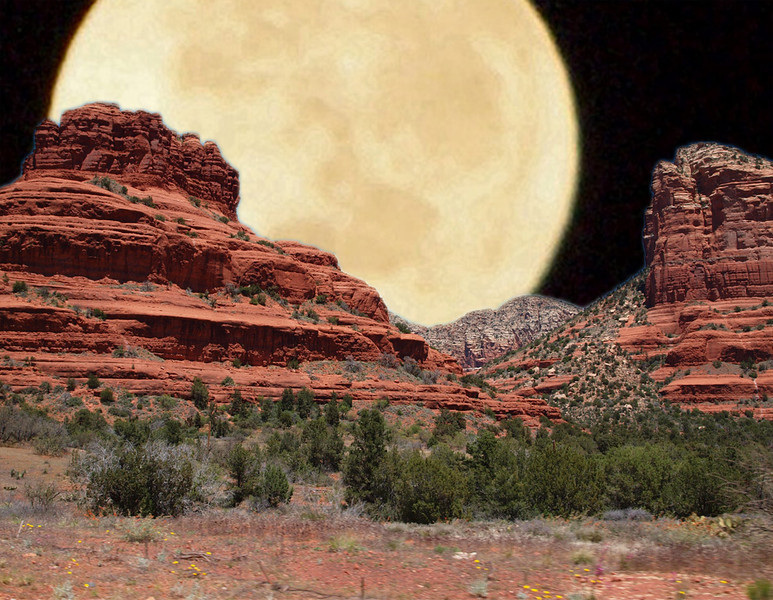 Creative Projection Image of the Year<br /> The Moon of Naples Over Sedona<br /> Ann Holl