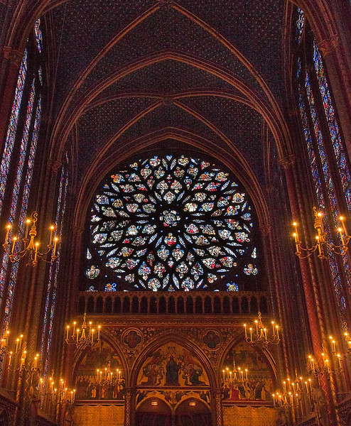 Honorable Mention (Tie)<br /> Rose Window Sainte Chappelle<br /> Kathy Snead