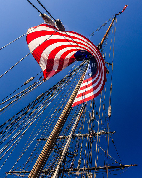 First Place (Tie)<br /> Sailing Old Glory<br /> Dave Garrison