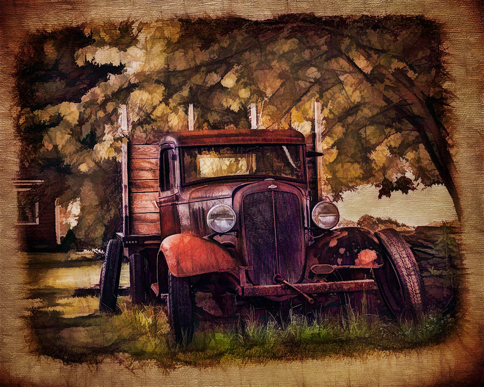 First Place<br /> Old Farm Truck<br /> Sandee Harraden