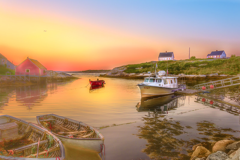 Peggy's Cove at Sunset<br /> First Place (Tie)<br /> Bob Kenedi