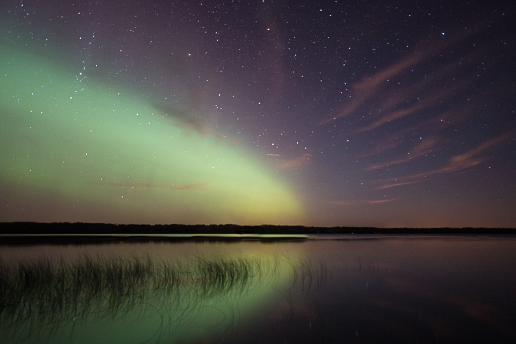 Northern Lights Reflection<br /> First Place (Tie)<br /> Rich Johnson