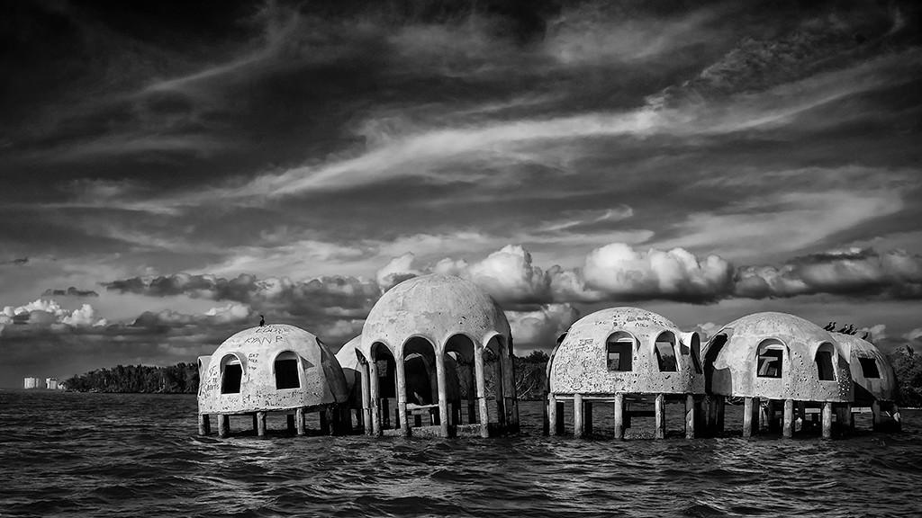 Second Place (Tie)<br /> Domes of Cape Romano<br /> Ed Cohen
