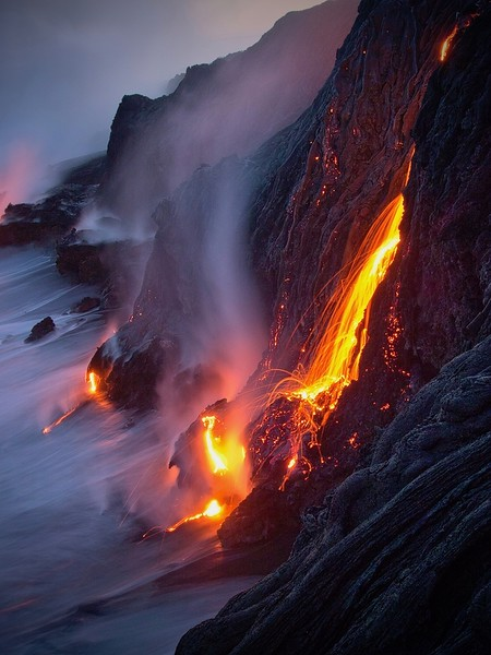 Nature Print Image of the Year<br /> Sea Lava Slo Mo<br /> Dave Baxendale