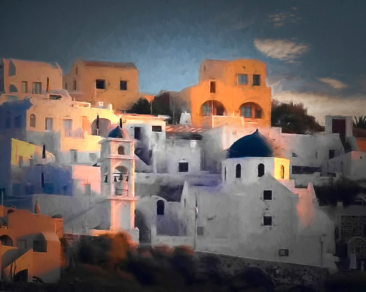 Creative Projection Image of the Year<br /> Santorini Sunrise<br /> Dave Garrison