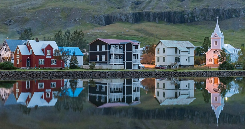 Third Place<br /> Icelandic Townscape<br /> Rich Johnson
