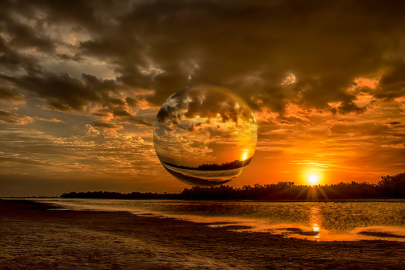 Image of the Year<br /> Creative Projection Image of the Year<br /> Fireball Reflection<br /> Nancy Springer