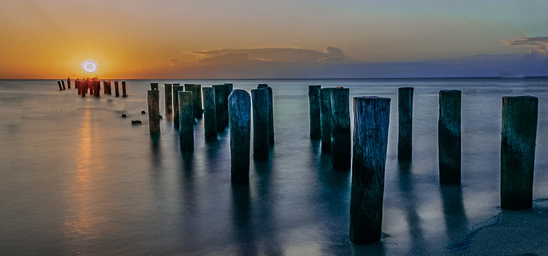 Second Place (Tie)<br /> Pilings at Sunset<br /> Dave McFarlane
