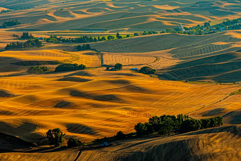 Third Place<br /> Rich Johnson<br /> Harvest Sunset