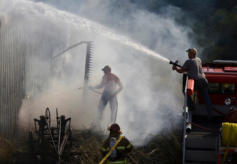 May<br /> Second Place<br /> Photo Journalism Division<br /> Barn Fire<br /> Liz Keery