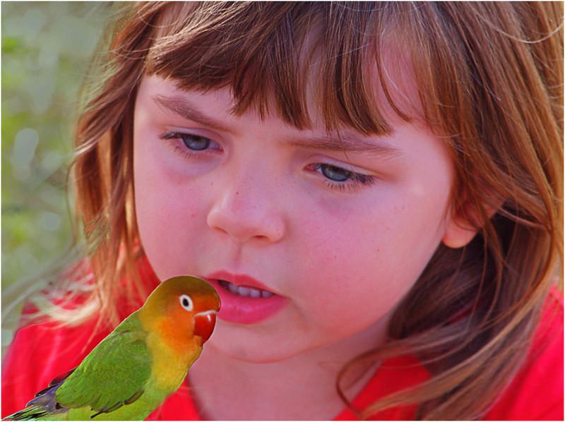 Little Girl with Bird<br /> Irene Szilagyi