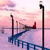 Winter Morning at Grand Haven Lights - Tom Mulick