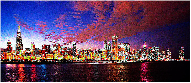 Chicago Night<br /> Kathy Zelm-Gazzolo