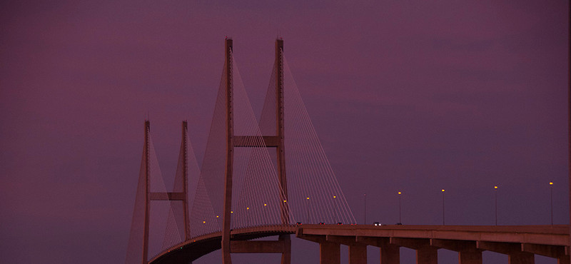 Sunset and Bridge, Brunswick, GA<br /> Tom Vincent
