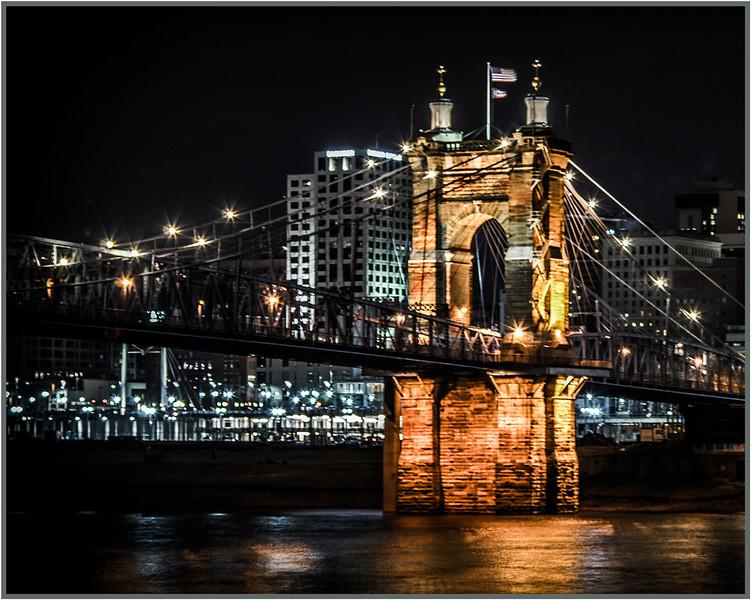 John A Roebling Cincinnati Bridge - Gary Taylor