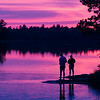 Brothers Fishing Twilight - John Kraft