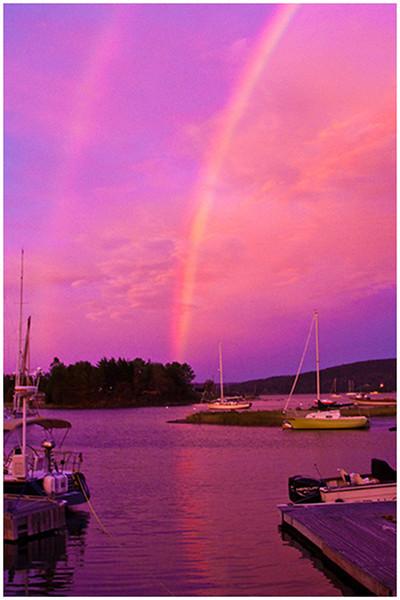 Tom Mulick - Double Rainbow at the Marina