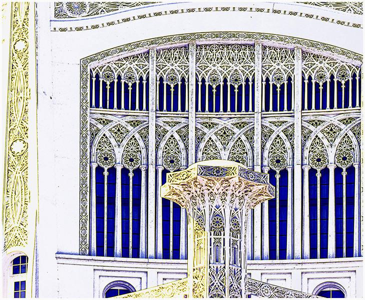 Bahai Temple Window Detail<br /> Irene Szilagyi
