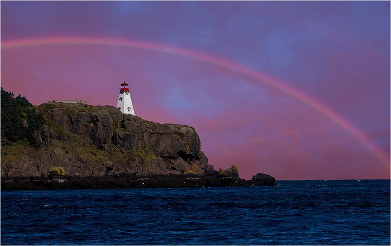 Rainbow over Nova Scotia Lighthouse<br /> Tom Mulick