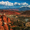 Fiery Furnace, Salt Valley and the La Sal Mountains