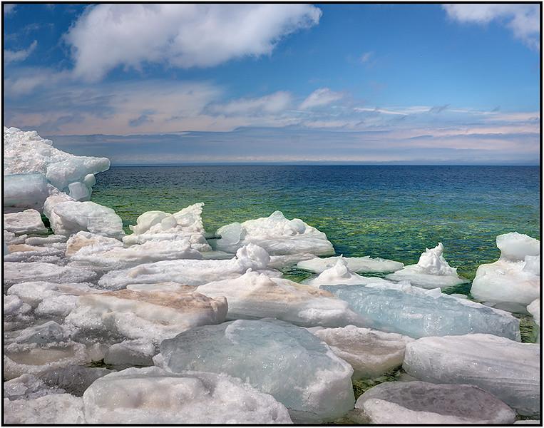 Icy Lake Michigan - Marie Rakoczy