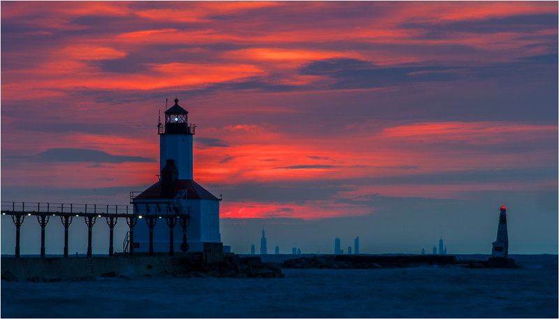 Gary Taylor - Sunset Over Chicago