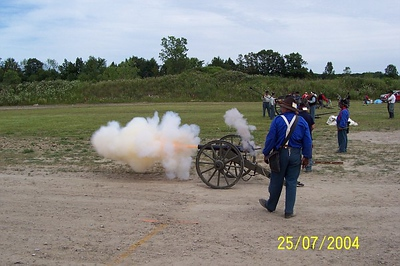 Battery C firing the Ellsworth.  Photo by Allissa Weber