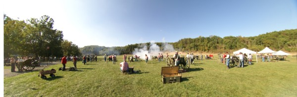 Wide angle shot of the Artillery Line.  Photo by Allissa Weber