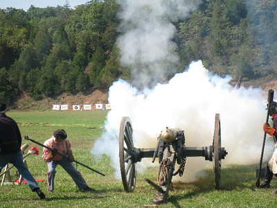 Winslow's Battery, at Fort Shenandoah.  Fall Nationals 2008. Photo by Rachel Mackintosh.