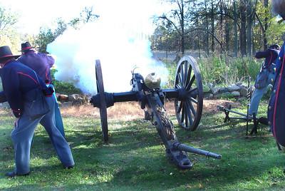 5th Battery Michigan Light Artillery firing.