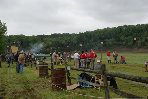 The mortar line during Spring Nats 2008. Photo by Allissa Weber.