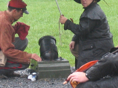 Rowan Artillery Mortar Team, Fall Nationals, 2006.  Photo submitted by Matthew Mackintosh.