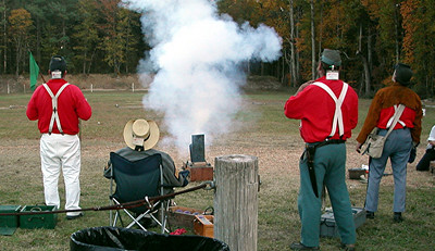 Tucker's Naval Brigade's shooting Mortar. Photo submitted by Edward Engle.