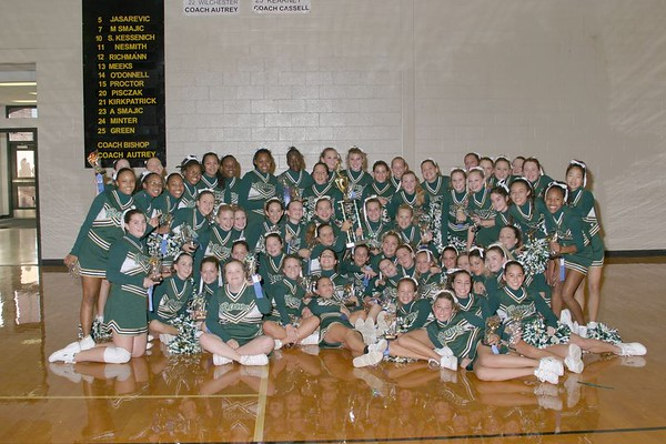 1st Place 8th Grade Cheer-off Champions