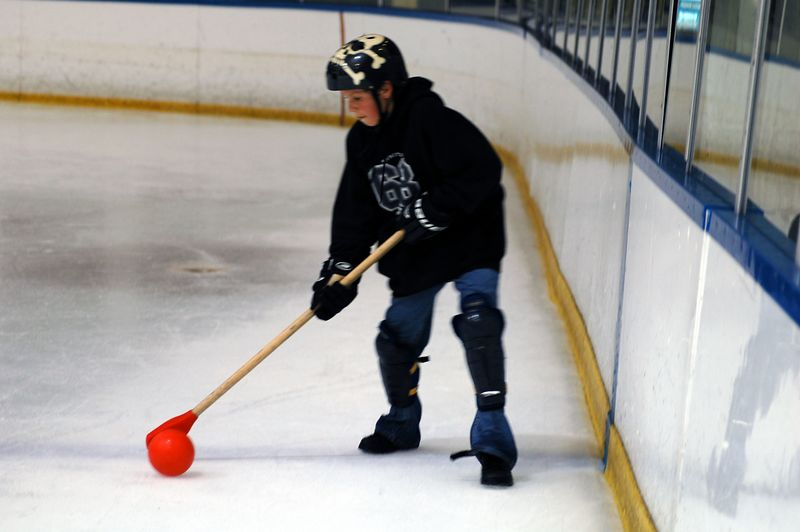 Little Rey got to play this year and brought his roller hockey skills with him.