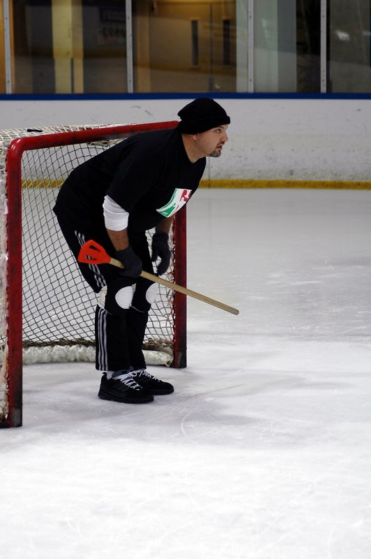 Manny in goal.