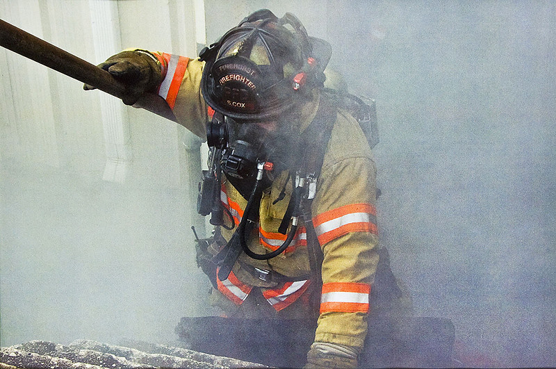 Photojournalism-A-1st-Jim McGill-Exhausted Firefighter