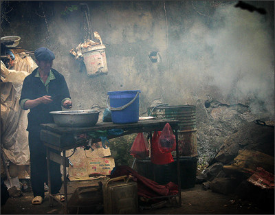 Smokey kitchen