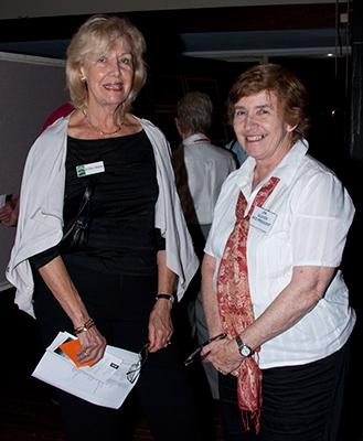 Cr Cheryl Szatow with Jan Glover