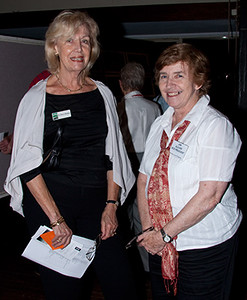 Cr Cheryl Szatow with Jan Glover