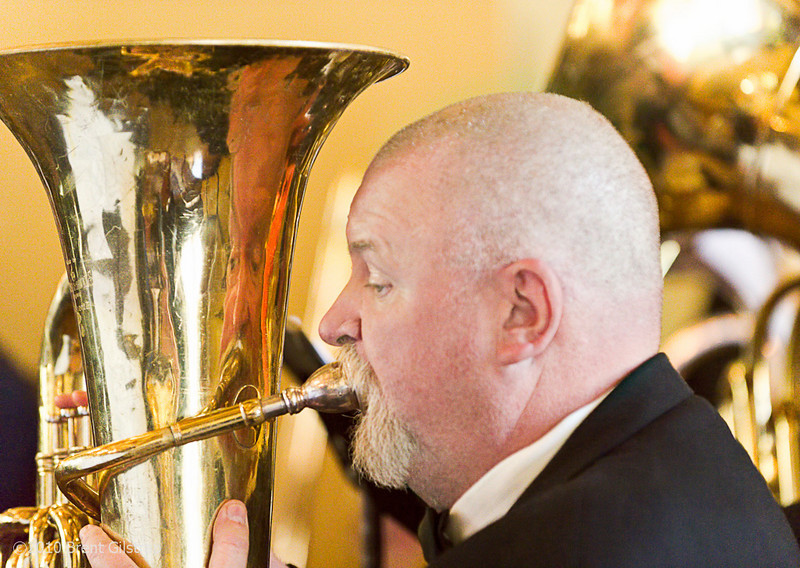 """""""Phil Smith and Tuba""""<br /> Great Lounge, The Ahwahnee Hotel<br /> Yosemite National Park<br /> <br /> Section: Professional Enlargements<br /> Class: People<br /> Place: -none-"""
