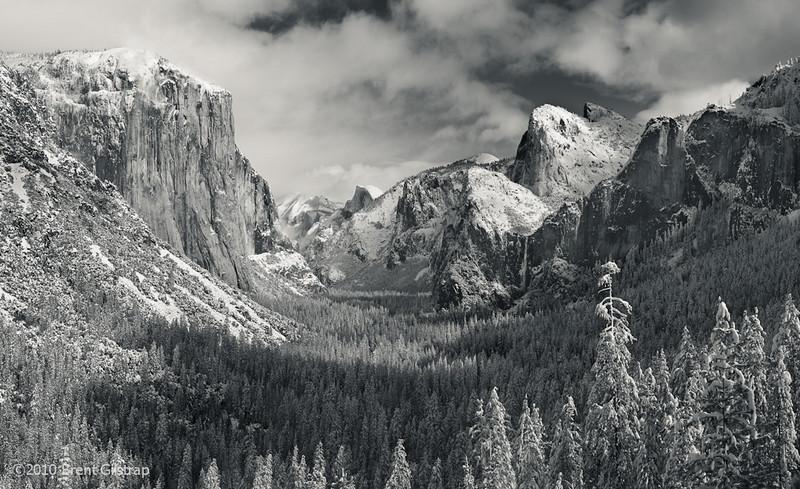"""Yosemite Valley, Winter 2010"" Yosemite National Park  Section: Professional Enlargements Class: Yosemite Place: <u>Honorable Mention</u>"