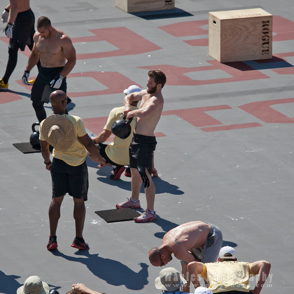 Sumo-deadlit high-pull, with a 108 pound kettlebell