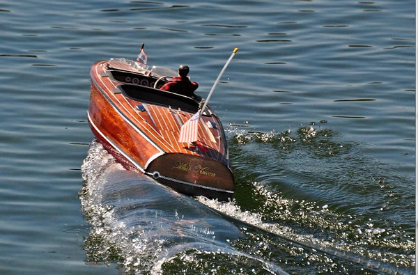 James Duda- model Chris Craft boat